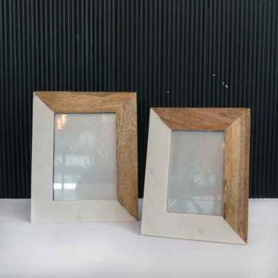 Marble&Wooden Photo Frame
