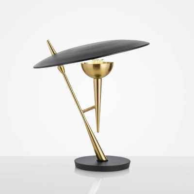 Metal Table Lamp-Gold&Black