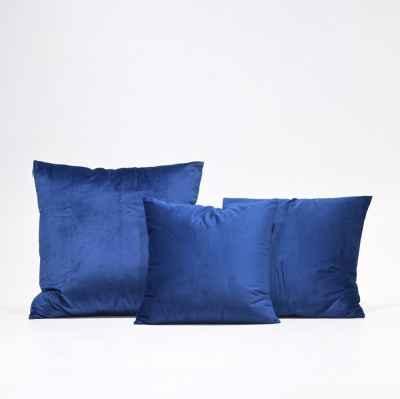 VELVET CUSHION - DARK BLUE