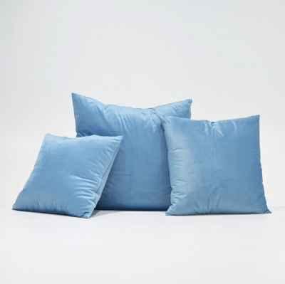 VELVET CUSHION - WATER BLUE