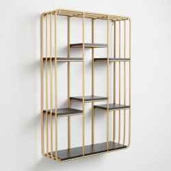 Iron&MDF Shelves H100-Gold
