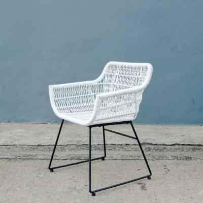 Wicker&Steel Wingback Armchair