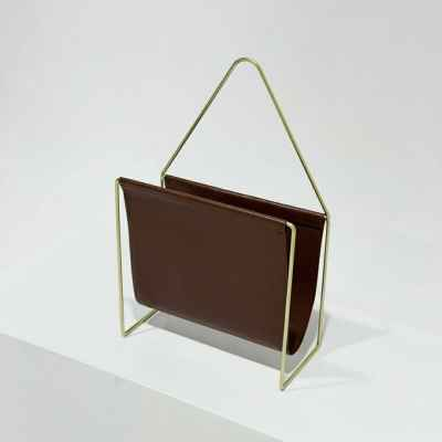 LEATHER BOOK RACK