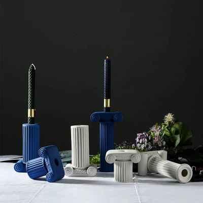 Ceramic Candle - Blue