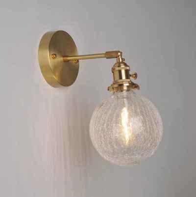 Glass Ball Wall Lamp