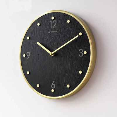 Slate & Metal Wall Clock
