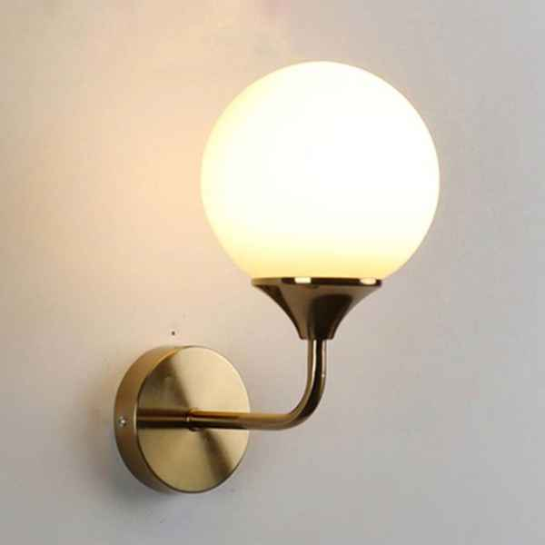 Glass & Iron Wall Lamp