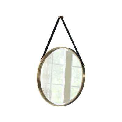Stainless Steel Round Decorative Belt Hanging Mirror