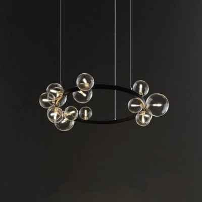 Metal Hoop Pendant Lamp