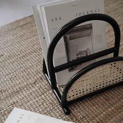 Rattan Magazine Rack