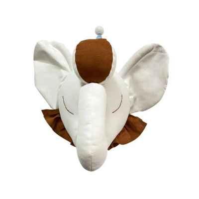 Fabric Elephant Head Wall Decoration